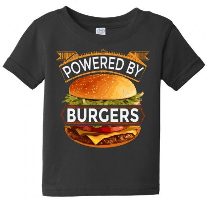 Powered By Burgers Baby Tee Designed By Asayem