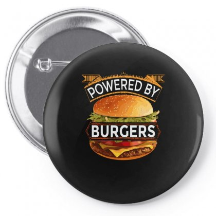 Powered By Burgers Pin-back Button Designed By Asayem