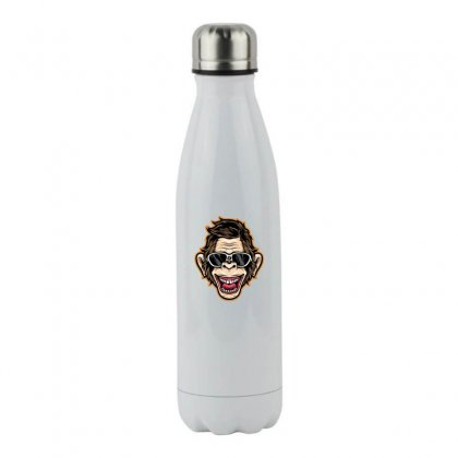 Funny Monkey Stainless Steel Water Bottle Designed By Disgus_thing