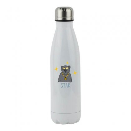 Bear Star Stainless Steel Water Bottle Designed By Disgus_thing