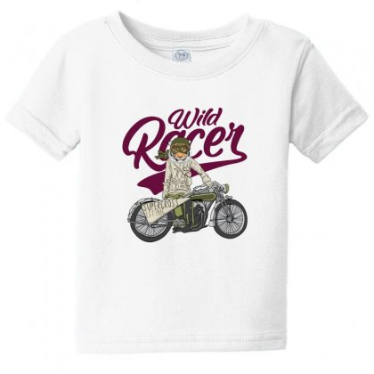 Wild Racer Baby Tee Designed By Disgus_thing