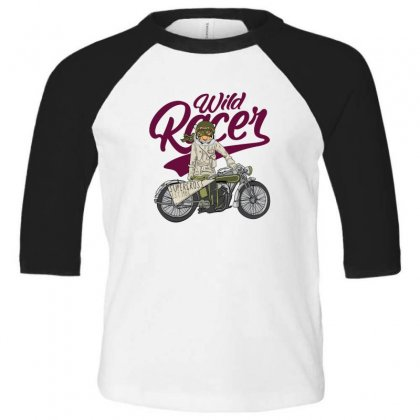 Wild Racer Toddler 3/4 Sleeve Tee Designed By Disgus_thing