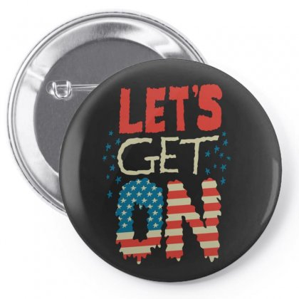 Usa Pin-back Button Designed By Disgus_thing