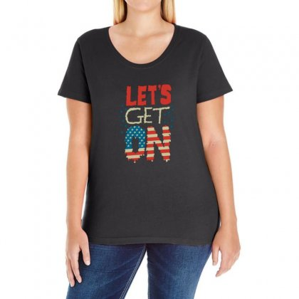 Usa Ladies Curvy T-shirt Designed By Disgus_thing