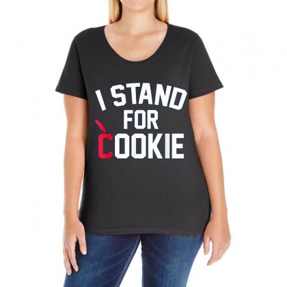 I Stand For Cookie 1 Ladies Curvy T-shirt Designed By Vanitty
