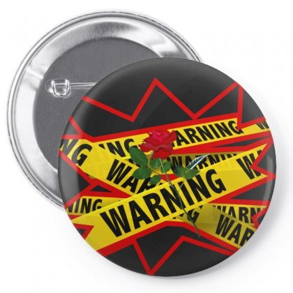 Warning Tee Pin-back Button Designed By Stonerchick246