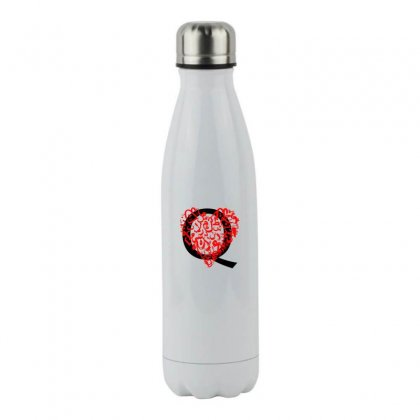 Alphabet Q Stainless Steel Water Bottle Designed By Nowlam