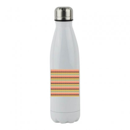 Vintage Stripes Lines Background Stainless Steel Water Bottle Designed By Salmanaz