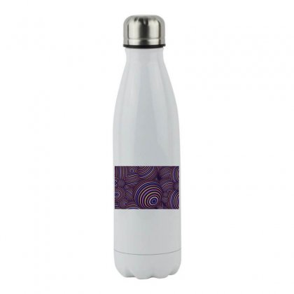 Abtract Colorful Spheres Stainless Steel Water Bottle Designed By Salmanaz