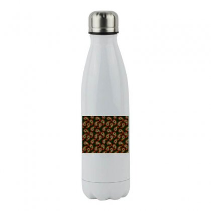 Seamless Paisley Pattern Stainless Steel Water Bottle Designed By Salmanaz