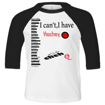 Cheh Hockey Toddler 3/4 Sleeve Tee Designed By Nowlam