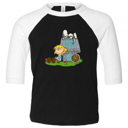 Happy Life Toddler 3/4 Sleeve Tee Designed By Disgus_thing