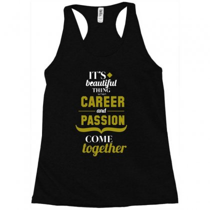 Career And Passion Come Together Funny T Shirt Racerback Tank Designed By Hung