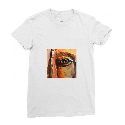 Corner Face Painting Ladies Fitted T-shirt Designed By A M A N I  A R T