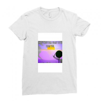 Distance Ladies Fitted T-shirt Designed By Wisline