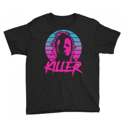 Halloween Killer Youth Tee Designed By Vanitty