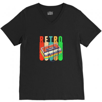Retro V-neck Tee Designed By Neset
