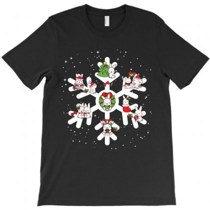 Bunny Christmas Snowflakes T-shirt Designed By Hoainv