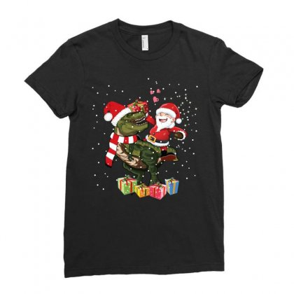 Santa Trex Ladies Fitted T-shirt Designed By Omer Acar