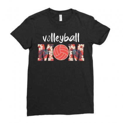 Volleyball Mom Ladies Fitted T-shirt Designed By Omer Acar