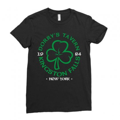 Dorry's Tavern Ladies Fitted T-shirt Designed By Enjang