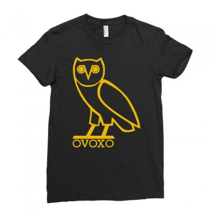 Drake, Ovoxo Owl Ladies Fitted T-shirt Designed By Enjang