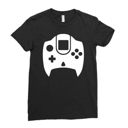 Dreamcast Controller Ladies Fitted T-shirt Designed By Enjang