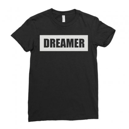 Dreamer Ladies Fitted T-shirt Designed By Enjang