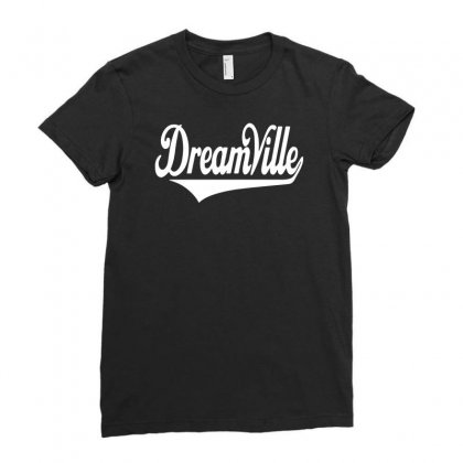 Dreamville Script Ladies Fitted T-shirt Designed By Enjang