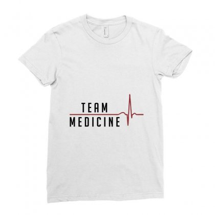 Team Medicine Ladies Fitted T-shirt Designed By Chris Ceconello