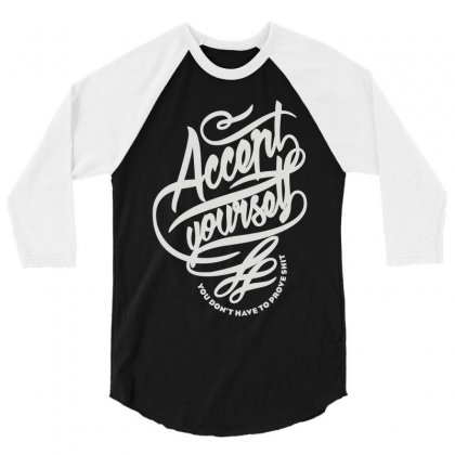 Accent Yourself 3/4 Sleeve Shirt Designed By Teeshop