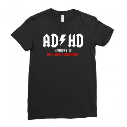 Adhd   Funny Ladies Fitted T-shirt Designed By Teeshop