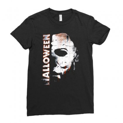 Halloween Face And Drip Horror Ladies Fitted T-shirt Designed By Teeshop