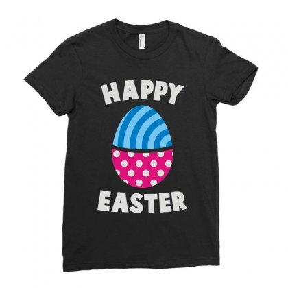 Happy Easter Ladies Fitted T-shirt Designed By Teeshop
