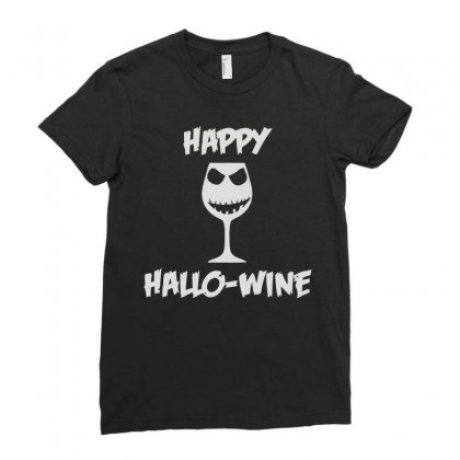 Happy Hallo Wine Ladies Fitted T-shirt Designed By Teeshop