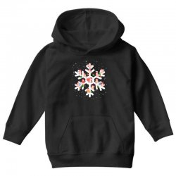 Cows Farm animals in Christmas Snowflakes Christmas Gift Youth Hoodie | Artistshot