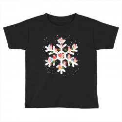 Cows Farm animals in Christmas Snowflakes Christmas Gift Toddler T-shirt | Artistshot