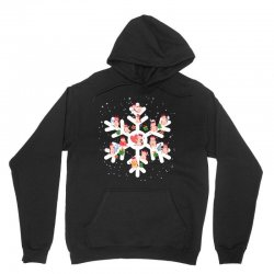 Cows Farm animals in Christmas Snowflakes Christmas Gift Unisex Hoodie | Artistshot