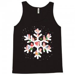 Cows Farm animals in Christmas Snowflakes Christmas Gift Tank Top | Artistshot