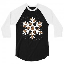 Sloths  animals in Christmas Snowflakes Christmas Gift 3/4 Sleeve Shirt | Artistshot