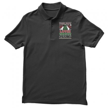 Men's Ugly Christmas Sweater This Guy Loves Christmas T Shirts Men's Polo Shirt
