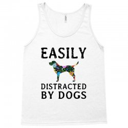 easily distracted by dogs Tank Top | Artistshot