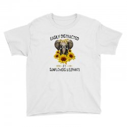 easily distracted by sunflowers and elephants Youth Tee | Artistshot