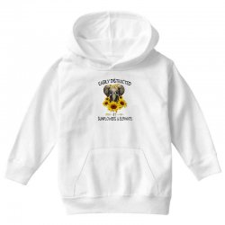 easily distracted by sunflowers and elephants Youth Hoodie | Artistshot