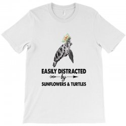 easily distracted by sunflower and turtles T-Shirt | Artistshot