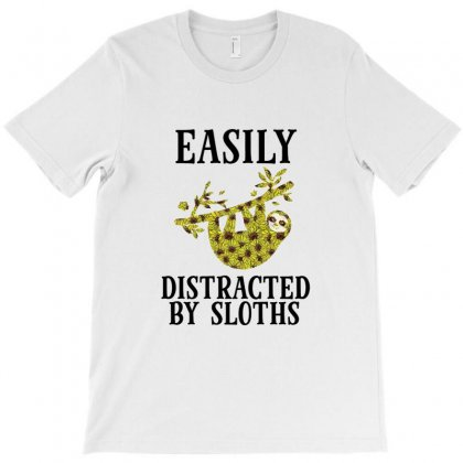 Easily Distracted By Sloths T-shirt Designed By Hoainv