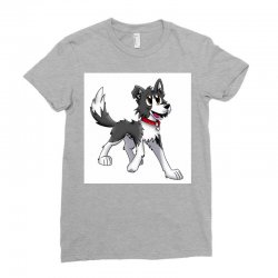 border collie 1457986758qll Ladies Fitted T-Shirt | Artistshot