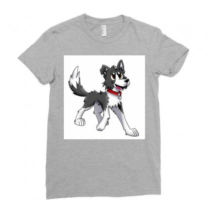 Border Collie 1457986758qll Ladies Fitted T-shirt Designed By Cduggan