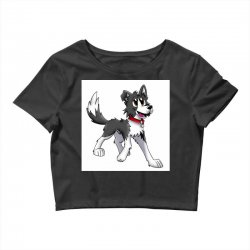 border collie 1457986758qll Crop Top | Artistshot