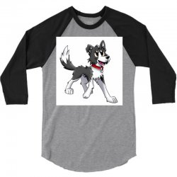 border collie 1457986758qll 3/4 Sleeve Shirt | Artistshot